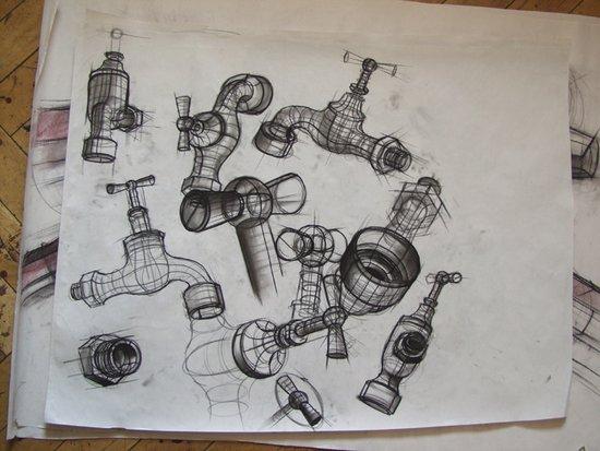 arbeitsproben aus erfolgreichen mappen: kolping kunstschule stuttgart, Innenarchitektur ideen